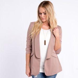 Jackets & Blazers - Cinch Sleeve Blazer